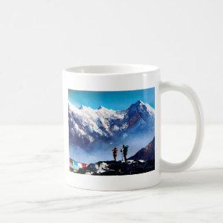 Caneca De Café Vista panorâmica da montanha máxima de Ama Dablam