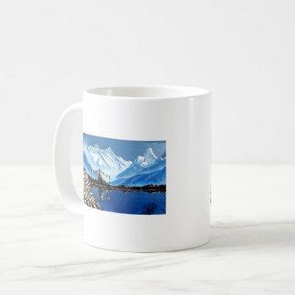 Caneca De Café Vista panorâmica da montanha Nepal de Annapurna