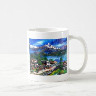 Caneca De Café Vista panorâmica da montanha Nepal de Everest