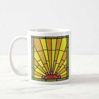Caneca De Café Vitral 3 do art deco