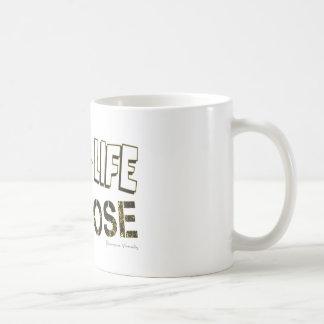 Caneca De Café Vive sua vida com uma finalidade