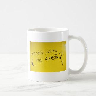 Caneca De Café Vivendo o sonho