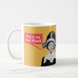 Caneca De Café Você é meu melhor amigo. /Eu sou seu somente amigo