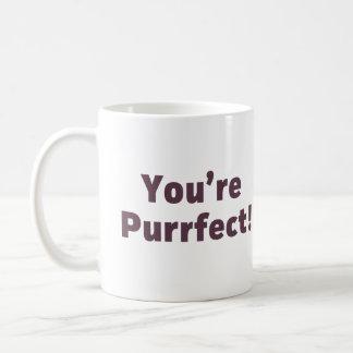 Caneca De Café Você é Purrfect