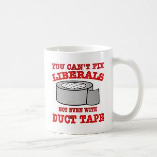 Caneca De Café Você não pode fixar liberais nem sequer com fita