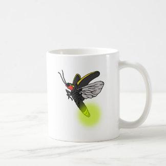 Caneca De Café vôo 2 do inseto de relâmpago iluminado
