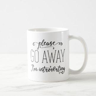 Caneca De Café Vou por favor afastado eu Introverting
