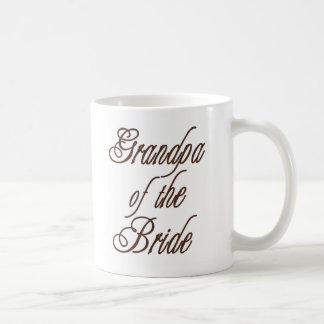 Caneca De Café Vovô de marrons elegantes da noiva