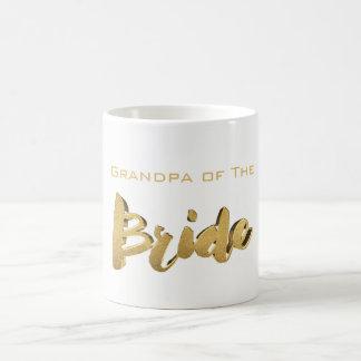 Caneca De Café Vovô do texto elegante do ouro da tipografia da