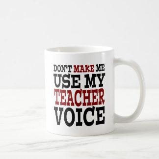 Caneca De Café Voz engraçada do professor