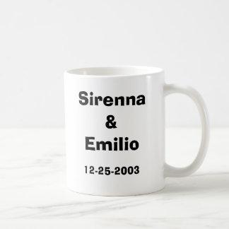 Caneca De Café Wedding 2003, Sirenna&Emilio, 12-25-2003