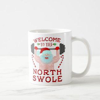 Caneca De Café Weightlifter engraçado de Papai Noel Swole do