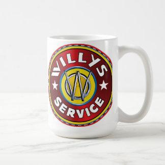 Caneca De Café Willys autorizou o sinal do serviço