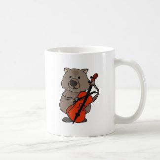 Caneca De Café Wombat engraçado que joga desenhos animados do