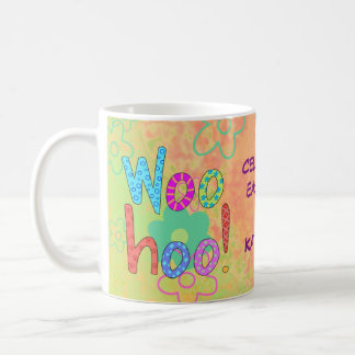 Caneca De Café Woohoo comemore o gráfico personalizado nome do