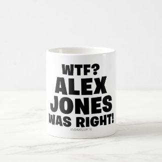 Caneca De Café WTF? Alex Jones era direito!