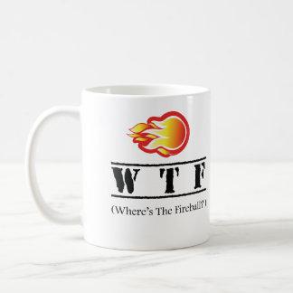 Caneca De Café WTF - Onde está a bola de fogo?