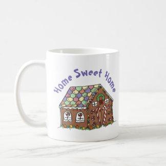 Caneca De Café Xmas Home doce do Natal da casa da casa de