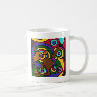 Caneca De Café XX- canguru da arte abstracta