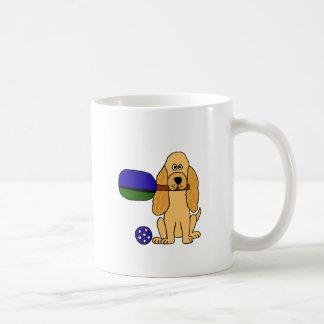 Caneca De Café XX- desenhos animados de Pickleball cocker spaniel
