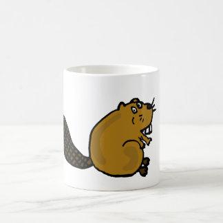 Caneca De Café XX- desenhos animados divertidos do castor