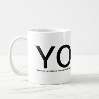 Caneca De Café YOLO - você vive somente uma vez! ajude-me por