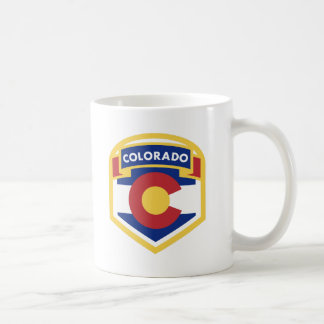 Caneca De Café Zazzle da BANDEIRA do ESTADO de COLORADO