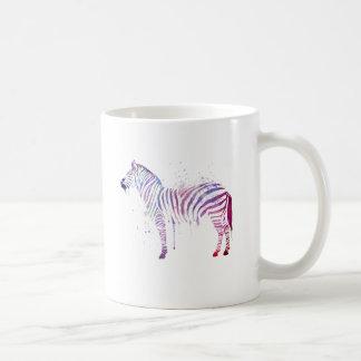 Caneca De Café Zebra da aguarela