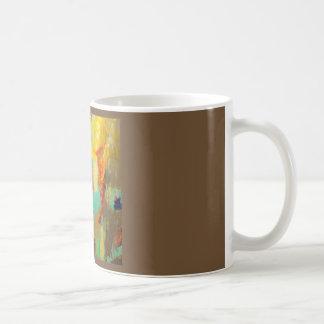 Caneca De Café Zumbido abstrato da cafeína