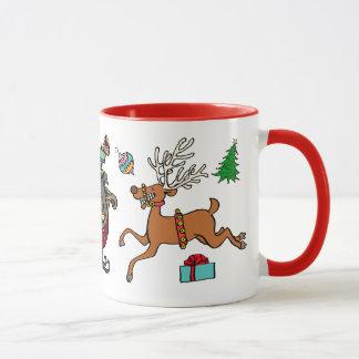"""Caneca De """"caneca cerâmica do Natal do anel de Bels"""