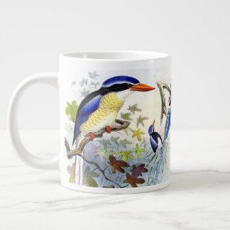 Caneca de cauda longa azul do jumbo dos pássaros