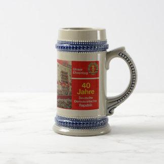 Caneca De Cerveja Alemão oriental da RDA 40 anos