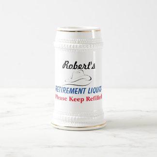 Caneca De Cerveja Algum líquido conhecido da aposentadoria -