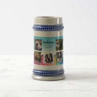 Caneca De Cerveja Arco-íris do cavalo do cão do gato do presente da