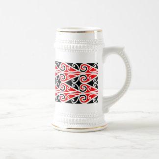 Caneca De Cerveja arte tribal do design maori para você