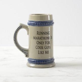 Caneca De Cerveja As maratonas Running são somente para caras legal