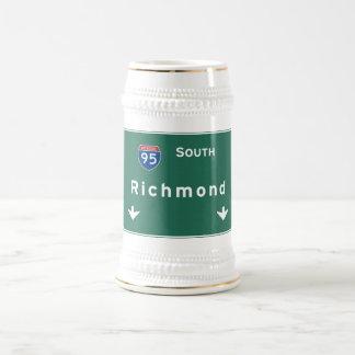 Caneca De Cerveja Autoestrada da estrada nacional de Richmond
