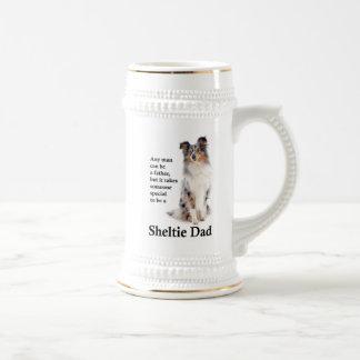 Caneca de cerveja azul do pai de Merle Sheltie