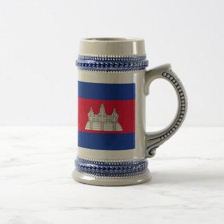Caneca De Cerveja Bandeira de Cambodia