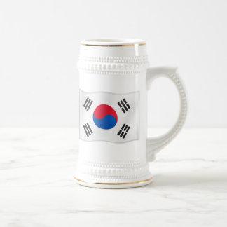 Caneca De Cerveja Bandeira de ondulação assim de Coreia