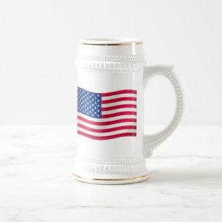 Caneca De Cerveja Bandeira de ondulação dos EUA