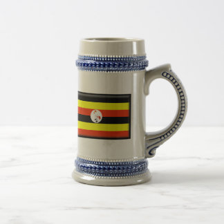 Caneca De Cerveja Bandeira de Uganda
