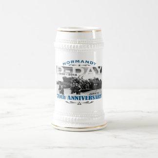 Caneca De Cerveja Batalha do aniversário do 70 do dia D de Normandy
