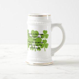 Caneca De Cerveja Bênção irlandesa do casamento -