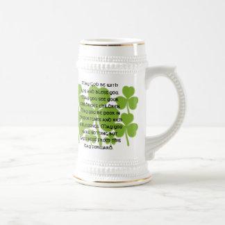 Caneca De Cerveja Bênção irlandesa do casamento - personalizada
