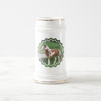 Caneca de cerveja bonito da cerveja do pônei da pi