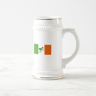 Caneca De Cerveja Brinde irlandês/bandeira irlandesa+Leprechaun
