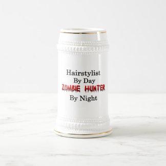Caneca De Cerveja Caçador do Hairstylist/zombi