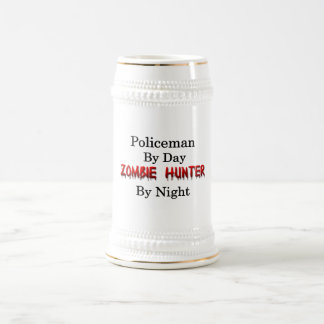 Caneca De Cerveja Caçador do polícia/zombi