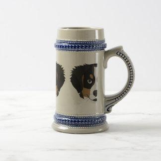 Caneca De Cerveja Cão de montanha de Bernese da ilustração